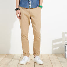 [Seconds] Metersbonwe official flagship store overalls male spring and autumn loaded cotton Slim trousers 753056