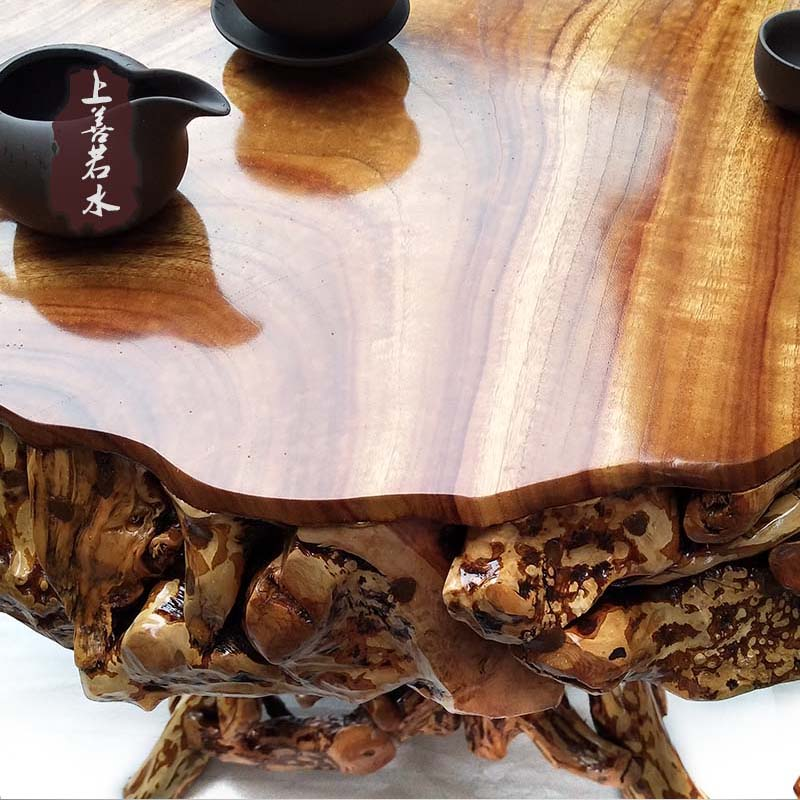 杜鹃根根雕茶几茶桌 香樟木树根茶海功夫茶几 实木圆桌茶台特价