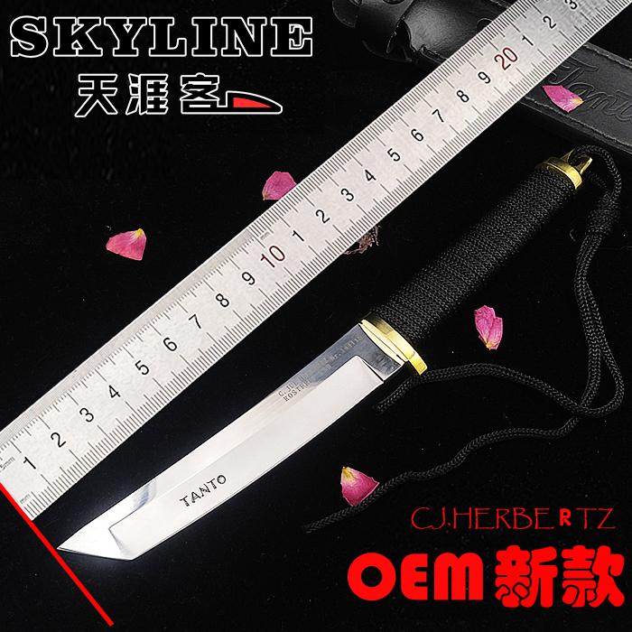 小武士忍者短刀战术高硬度直刀野外求生军刀防身刀具户外收藏小刀