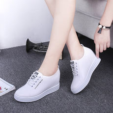 2018 spring and autumn new increase in white shoes women's shoes with sports shoes loose cake platform shoes Loafers