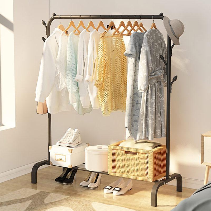 晾衣架落地折叠室内单杆式卧室晒衣架挂衣架家用简易阳台衣服架子
