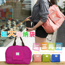 Candy color waterproof oversized shoulder bag Collapsible storage bag Preserved bag with Mummy bag three three mother