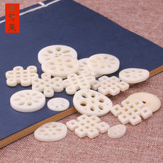 Natural Ivory Fruit Pendant Chinese knot carved back cloud safe buckle beads tassel pendant jewelry accessories