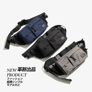 新品POUCH胸包单肩包男包斜挎包MASTER NAVY HIP BAG尼龙防水腰包