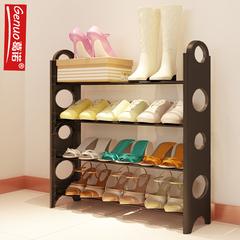 可拆装宿舍寝室简易鞋架多层铁艺家用收纳组装鞋柜经济型现代简约