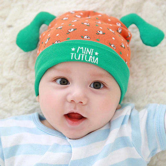 Newborn baby hat spring and autumn 0-3-6 months baby headgear cotton boys and girls spring Korean version of the sleeping cap