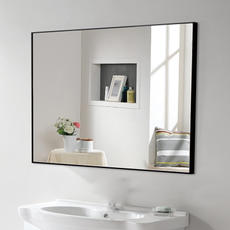 YISHARE Wall-mounted Bathroom Mirror Toilet Mirror Waterproof Bathroom Mirror Toilet Hanging Mirror Simple Bathroom Mirror