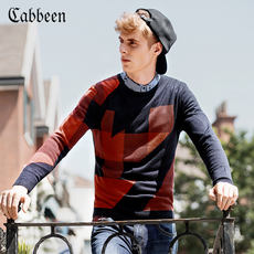 Carbine autumn and winter men's clothing round neck slim sweater casual fashion men's long-sleeved sweater B / 3153101008