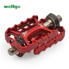 Wellgo Weige folding bike mountain road bike quick release pedals lightweight ankle riding accessories M111