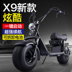 Junjie wide tire Puhalei electric car halei battery car pedal can take battery charging moving scooter