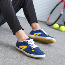 Pull back classic canvas shoes tendon at the end non-slip breathable mesh men and women shoes training table tennis shoes T-5
