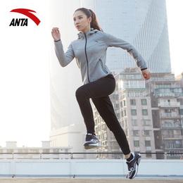 安踏运动套装女2018新款秋季吸汗透气跑步健身两件套装运动训练服