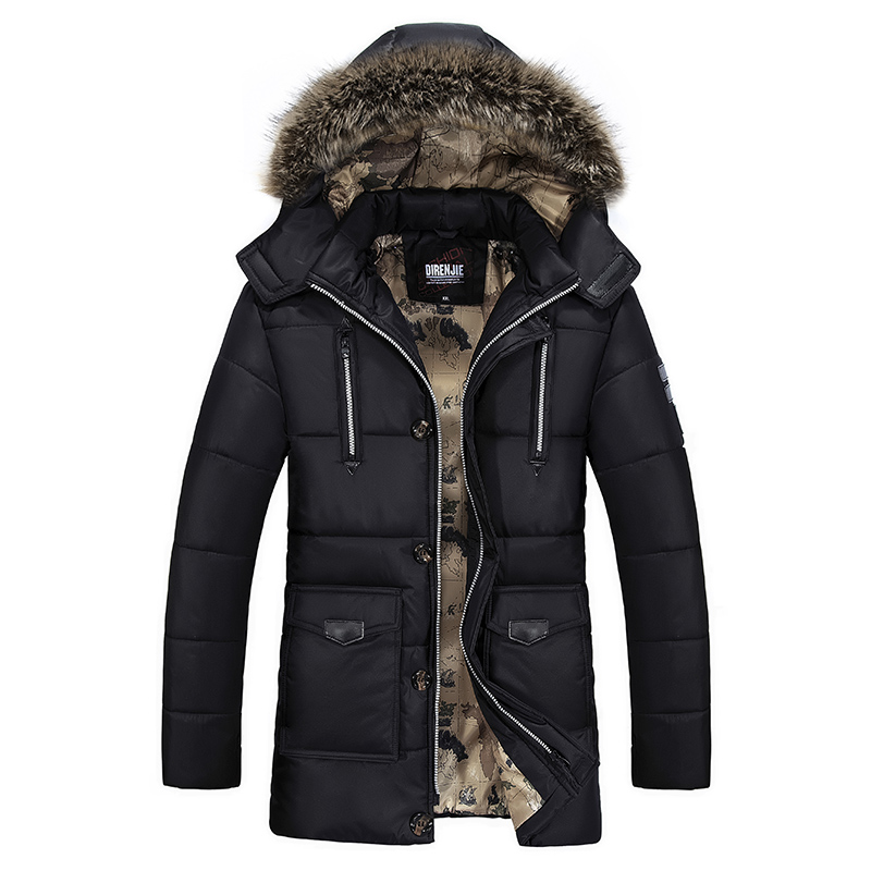 冬季男中长款加厚保暖棉衣韩版修身男式外套青年休闲大码户外棉服