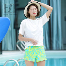 Yizi Hot Springs New Couple Geometry Zebra Print Fashion Women's Beach Vacation Beach pants 6050