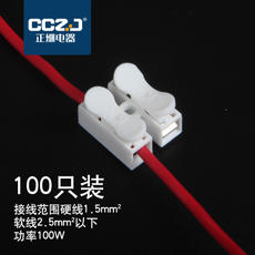 Push-type terminal block CH-2 wire lamp quick connector 2-position connector quick spring docking 100
