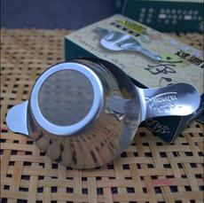 Authentic 304 stainless steel tea leak tea filter wholesale thickening aggravated tea set double filter tea ceremony accessories