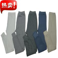Men's middle-aged and old autumn and winter pure cotton warm autumn and winter pants loose and comfortable single piece wild plus fertilizer increase