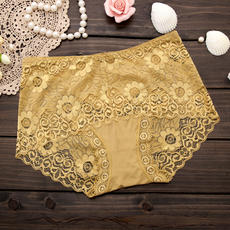 Women's underwear new sexy lace underwear high waist fat MM large size shorts briefs 8028