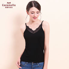 CARAMELLA2018 summer new women's code casual home base underwear knitted halter camisole