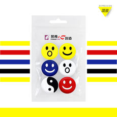 6 wall-mounted tennis racket shock absorbers embedded shock absorbers non-toxic taste environmentally friendly silicone smiley face cartoon