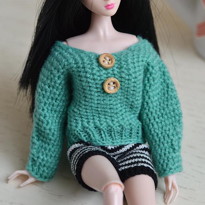 心怡换装洋娃娃30cm6分娃FR衣服装桃子珍妮女孩玩具毛衣毛线短裤