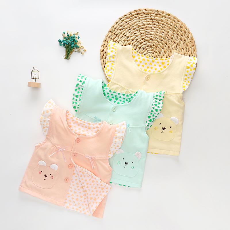 宝宝服装马夹婴儿马甲春装开衫纯棉衣服女童装背心坎肩夏季
