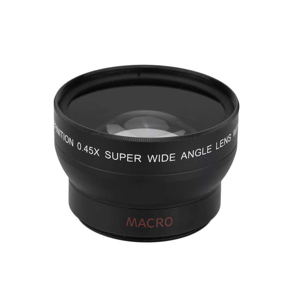 HD 37MM 0.45x Wide Angle Lens with Macro Lens Attachment Mac