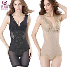 Beauty no trace corsets conjoined to receive belly fat burning waist shaping body slimming clothes ultra-thin corset underwear