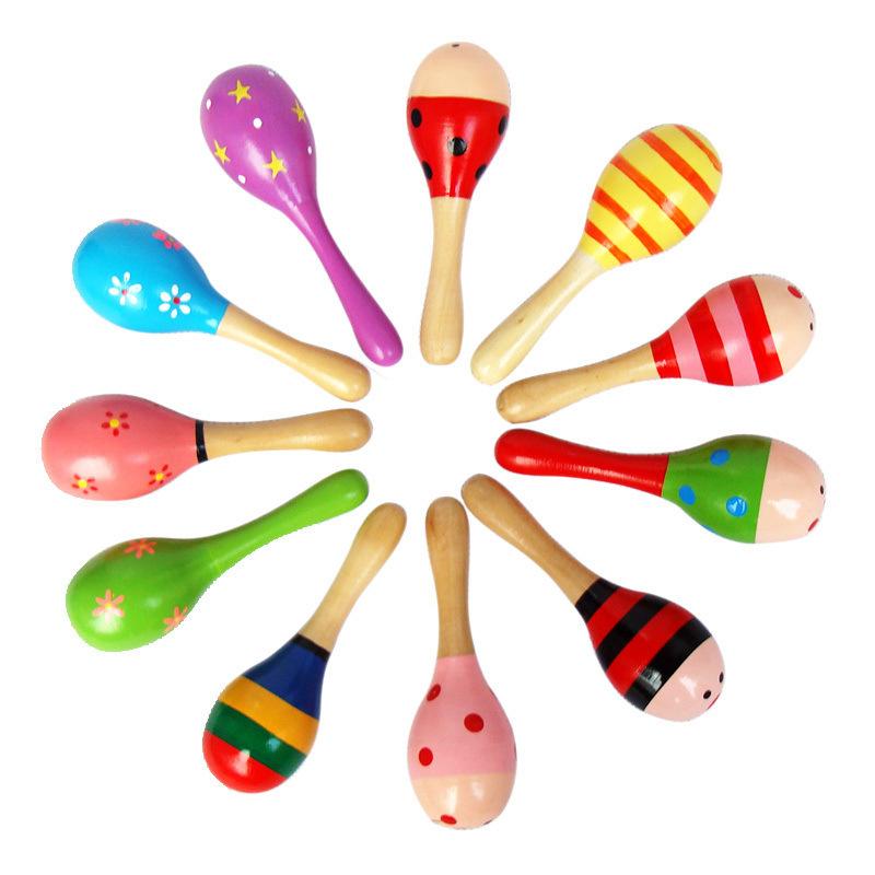 宝宝沙锤木质木制锻炼听觉抓握摇铃0-1岁儿童打击乐器婴儿玩具