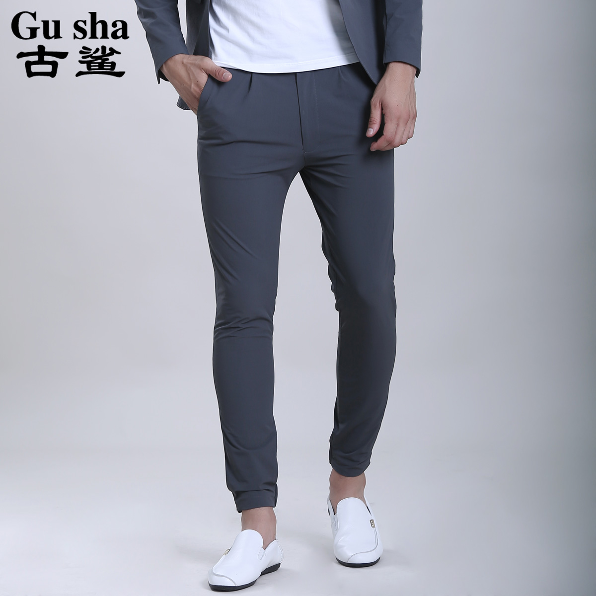 古鲨2016秋季新品男士休闲西裤商务时尚男装裤子