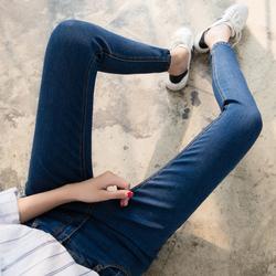 秋冬季高腰高弹力小脚加绒牛仔裤女显瘦长裤子大码胖MM紧身铅笔裤