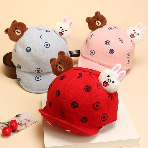 Baby hat baby hat spring and autumn boys and girls caps baby hat autumn 0-1 year old baby princess
