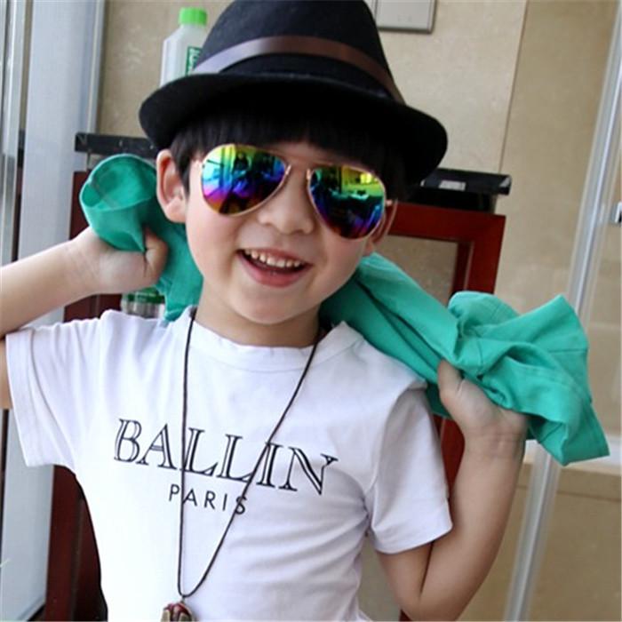 亲子情侣儿童太阳墨镜小男孩小女孩反光水银镜面儿童墨镜孩子眼镜