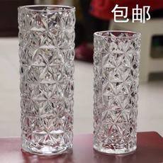 Thick thickened rattan bamboo ice rich bamboo transport bamboo lily rose flower hydroponic cylindrical glass vase