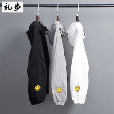 Sun protection clothing men's summer new fashion Korean version of middle school students smiley loose hooded spring thin coat casual trend