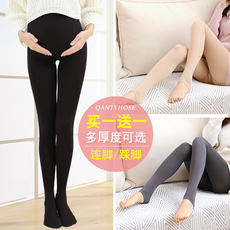 Pregnant women stockings thin section anti-hook silk pregnancy black meat color leggings pantyhose stomach lift adjustable spring and autumn