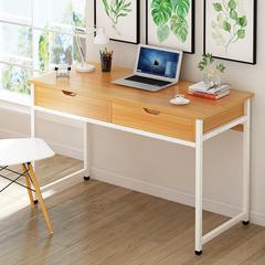 一米简易笔记本电脑桌80cm长家用办公桌子带抽屉1.2米学生写字台