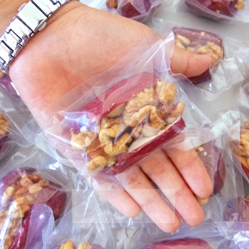红枣夹核桃仁葡萄干500g大枣加什锦夹心枣好想和你抱抱果网红零食