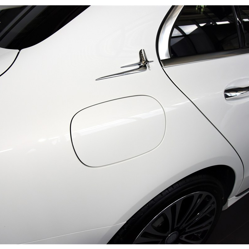 16-19款奔驰C级加长标 C级改装车标车贴C200 C300改装车标装饰