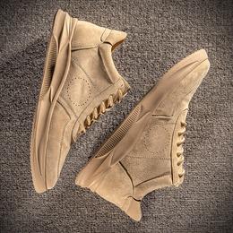 男鞋春季2019新款百搭潮流休闲鞋子男潮鞋低帮工装鞋男士真皮板鞋