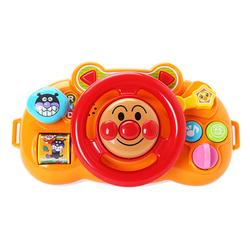 现货包邮日本进口正品面包超人宝宝音乐方向盘婴儿童推车户外玩具