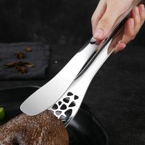 楼尚厨房304不锈钢食品夹子厨房煎牛排专用烧烤夹家用肉菜面包