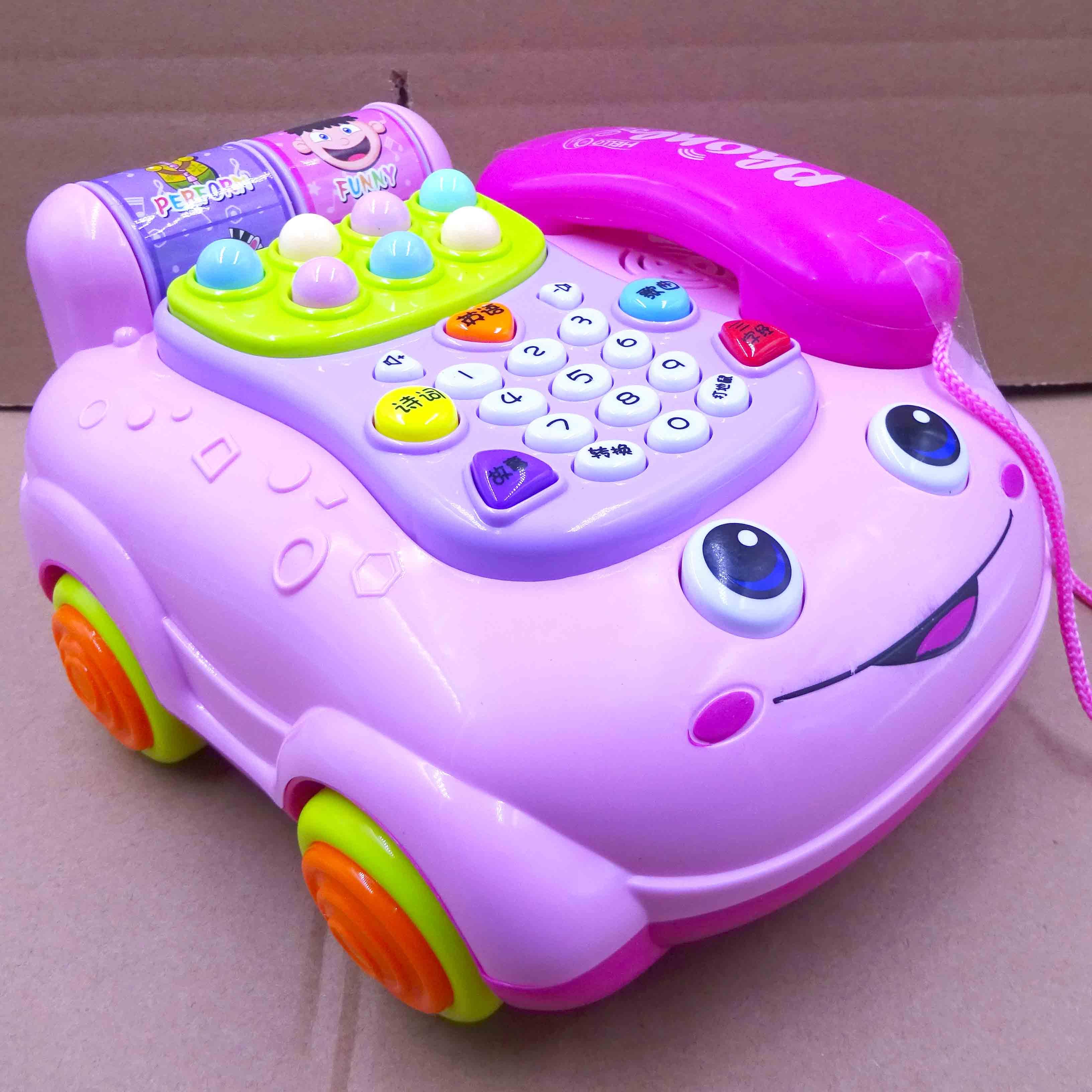 益智婴儿童电话玩具座机仿真 小孩宝宝玩具电话女孩男孩0-1-3-5岁