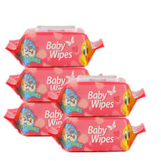 Wipes Baby 100 Pumps*5 Pack Baby wipes with cover Prevent red PP baby wipes