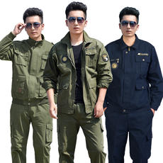 Workwear suit men's labor insurance clothing autumn and winter cotton anti-scalding flame-retardant wear site tooling welding work clothes men