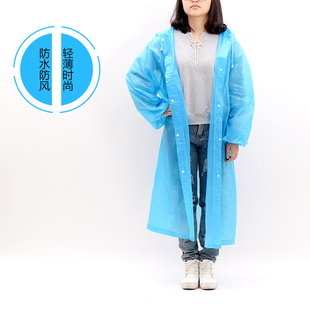一次性雨衣成人便携加厚 户外徒步登山旅游塑料透明防水雨衣雨披