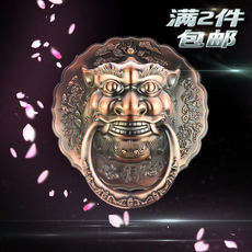 Animal head door ring handle bronze lion head handle antique door handle door ring tiger head Chinese antique handle ring