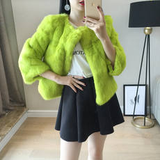 2018 new Korean female whole skin rabbit fur coat short fur coat female anti-season fur clearance