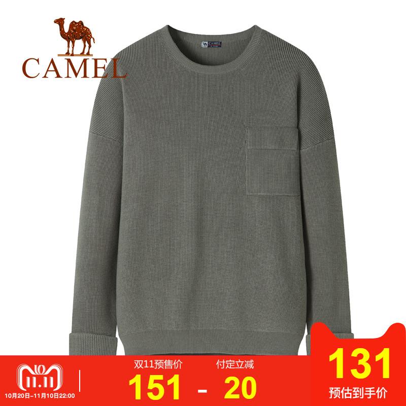 【双11预售】Camel骆驼2018年冬季新品毛衣韩版暖男保暖长袖衫