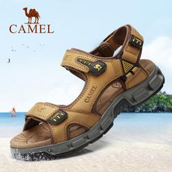 骆驼凉鞋男 夏季男士凉鞋2018新款休闲沙滩鞋男凉鞋男潮真皮凉鞋
